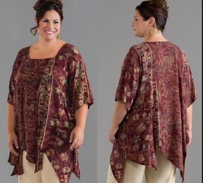 Model Baju Batik Kantor Untuk Orang Gemuk
