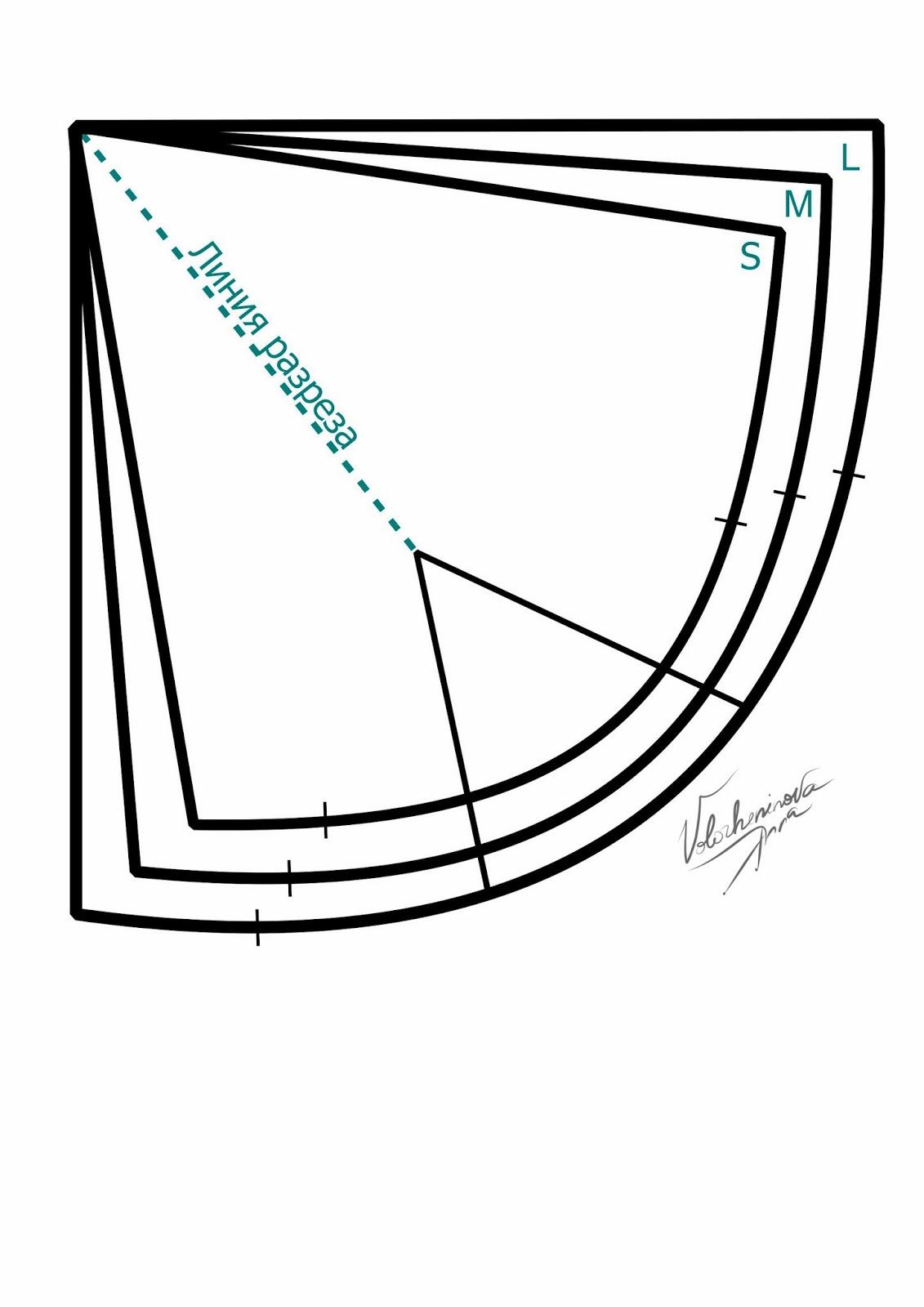 Выкройка кружевной бра размер а