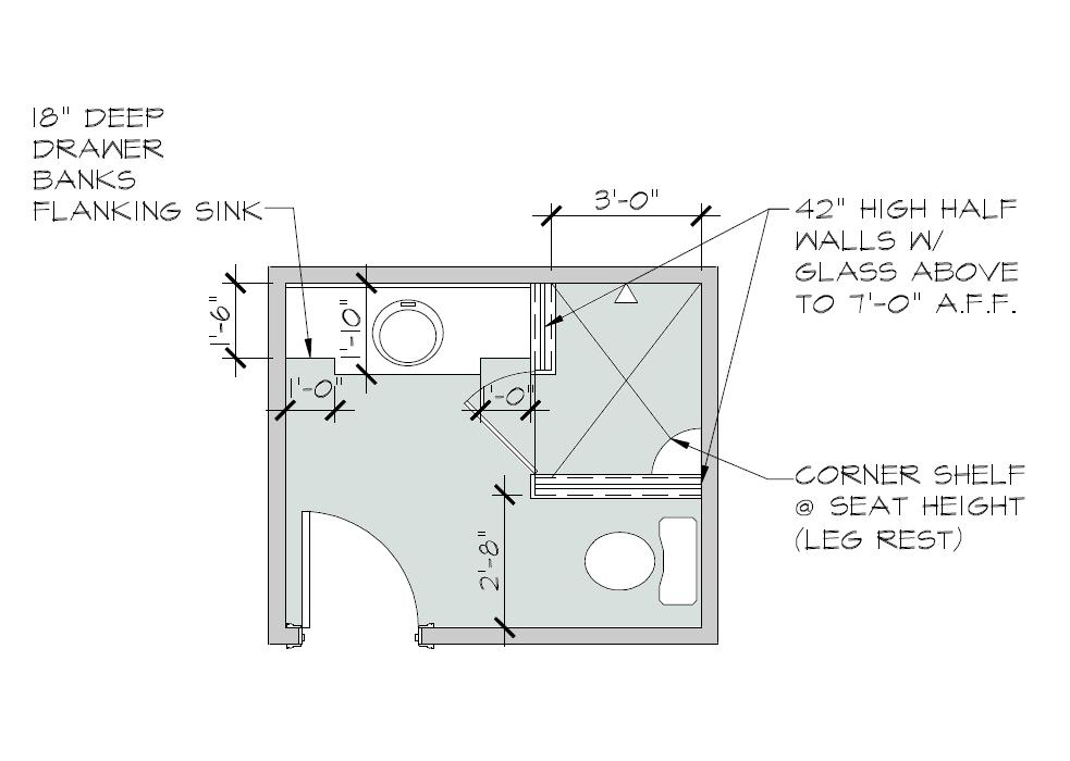 Southgate residential a small bathroom update Bathroom blueprints for 8x10 space