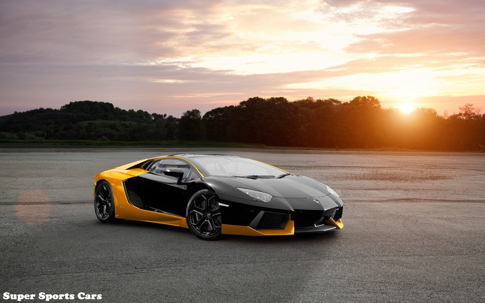 black and yellow lamborghini aventador super sports cars. Black Bedroom Furniture Sets. Home Design Ideas