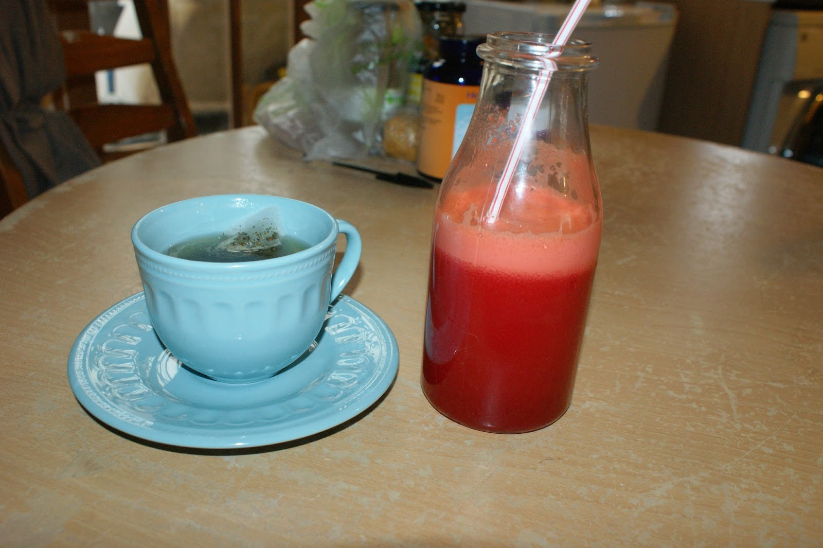 beetroot juice, detox tea