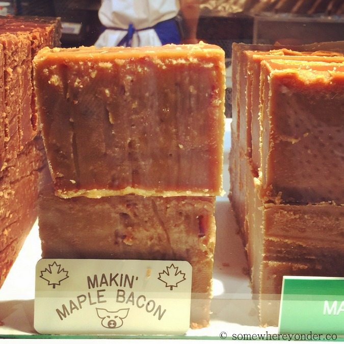 Maple bacon fudge at the 2015 Calgary Stampede, Canada