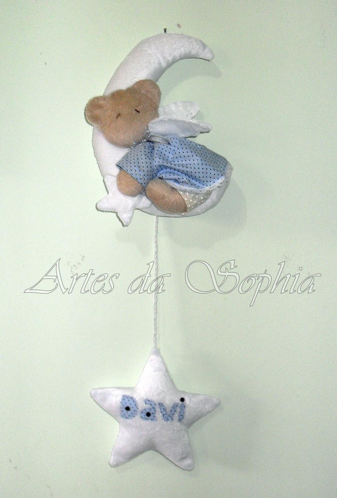 Enfeite De Lua ~ Artes da Sophia Enfeite porta maternidade Ursinho na Lua