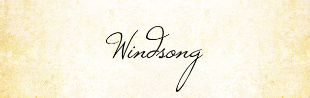 Windsong | 細身で高さに変化がついたサインのようなオシャレな筆記体フリーフォント。商用可。