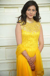 Rakul Preet Singh Latest Pictures in Yellow Salwar Kameez at Gopichand Prod.No.5 Movie Opening  080