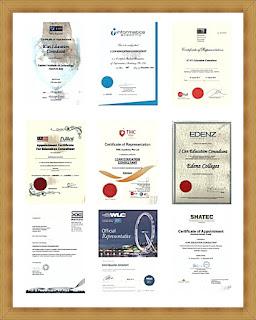 Gambar Piagam Penghargaan dan Sertifikat ICAN Education Consultant