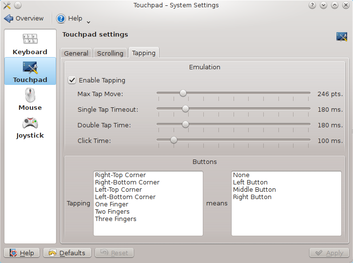 Images touchpad blocker