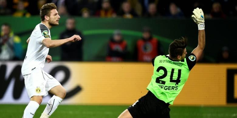 Sikat Dresden, Dortmund Melaju ke Perempat Final