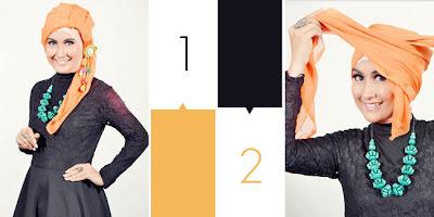 Cara+memakai+jilbab+segi+empat+turban Cara Memakai Jilbab Segi Empat Turban