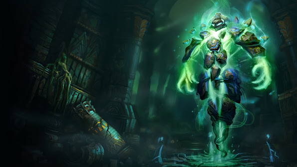 xerath league of legends hd wallpaper lol champion runeborn skin