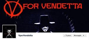 Pagina Facebook V per Vendetta