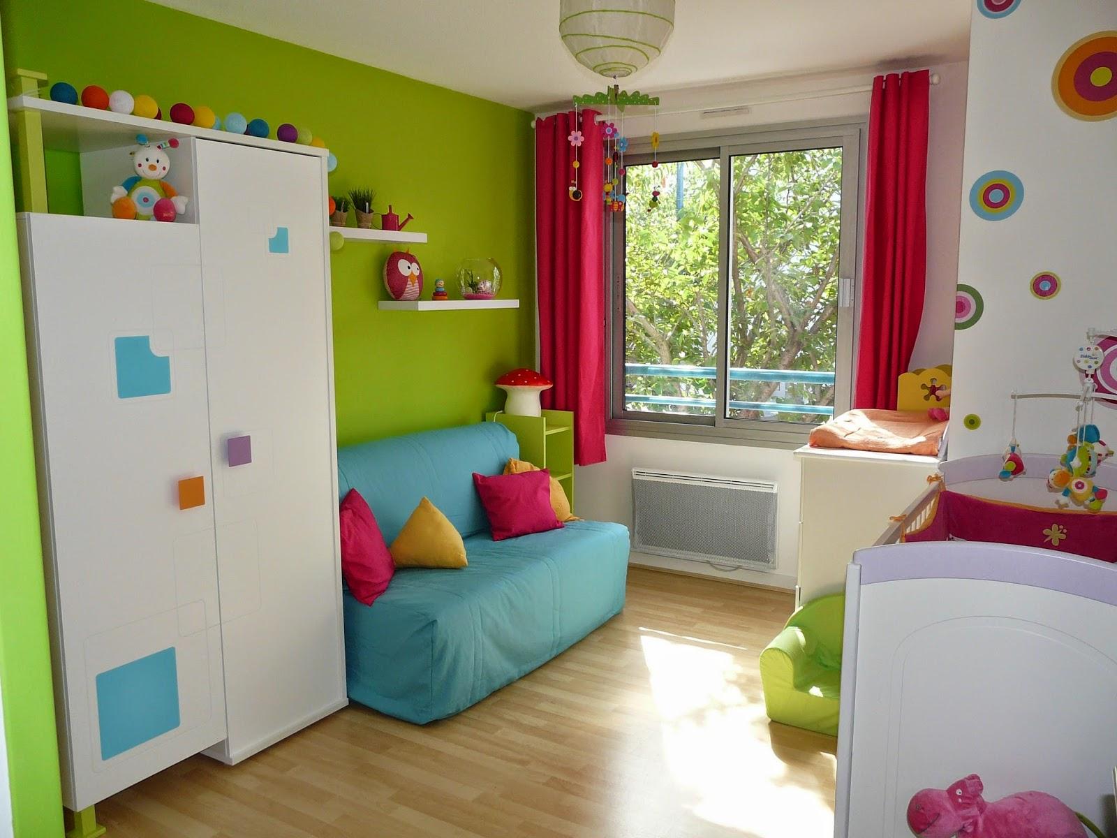 Habitaciones de beb s llenas de color dormitorios - Colores habitacion bebe ...