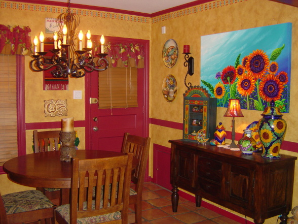 Mexican style homes interior 10 spanishinspired rooms for Mexican home decorations