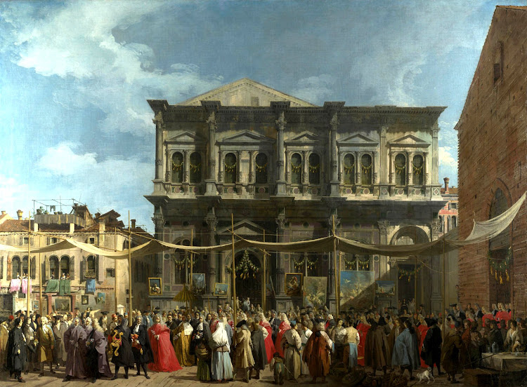 Canaletto - The Feast Day of Saint Roch in Venice