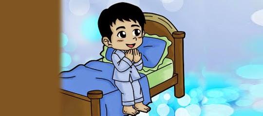 doa sebelum tidur dan lafadz doa setelah bangun tidur