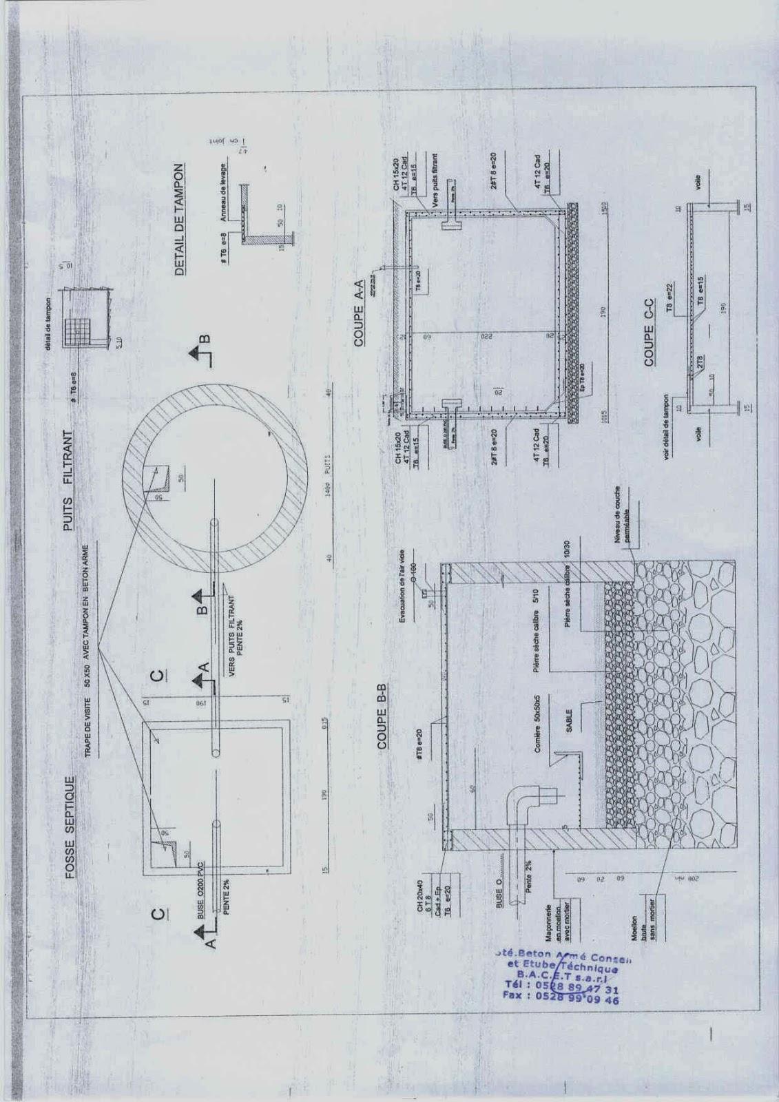 fosses toutes eaux le monde de g nie civil. Black Bedroom Furniture Sets. Home Design Ideas
