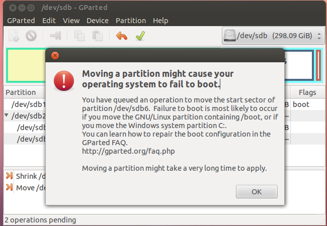 how to delete ubuntu partition