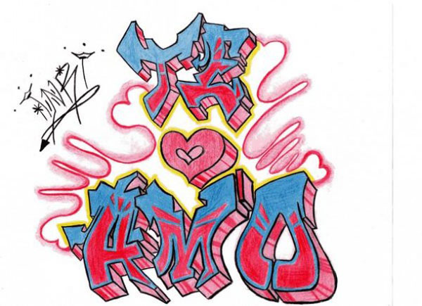 De grafitis que digan te amo - Imagui