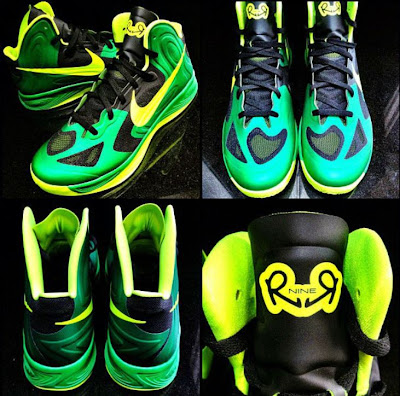 68c7b7ff3f9 ... of Nike Zoom Hyperfuse 2012 Rajon Rondo PE Sneakers we have been seeing  him wearing lately