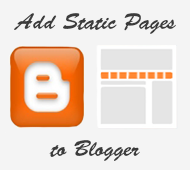 add static pages on blogger