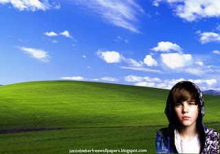 Desktop Wallpaper of Justin Bieber singer sad face in Countryside Landscape Desktop wallpaper