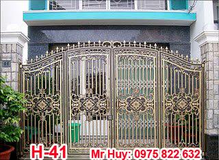 cổng đúc hợp kim nhôm