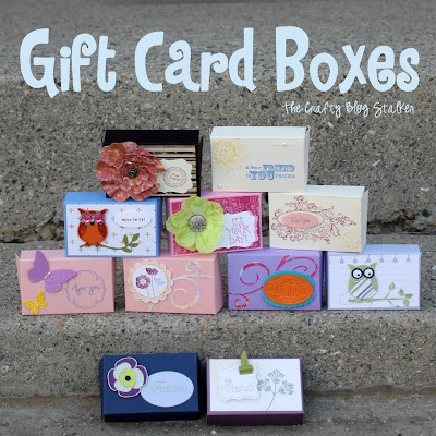 How to make a gift card box