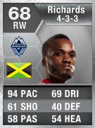 Dane Richards 68 - FIFA 13 Ultimate Team Card - FUT 13