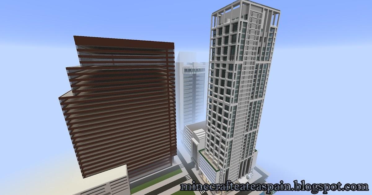 Minecrafteate r plica minecraft rascacielos 701 for Oficinas banco santander oviedo