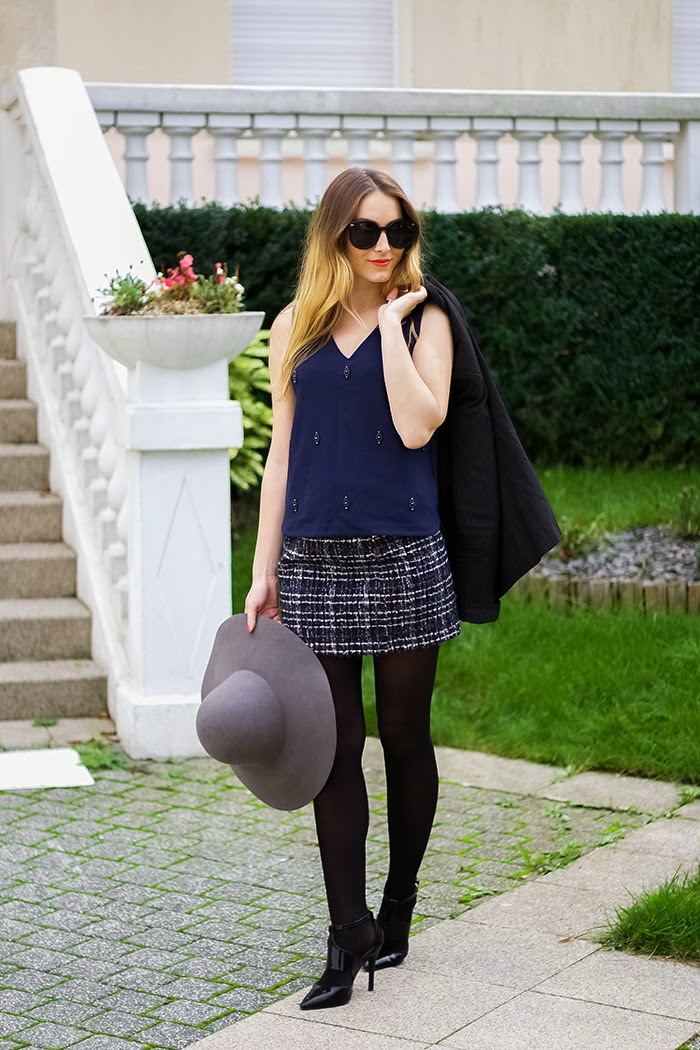 wool skirt winter