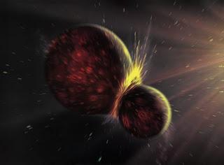 Leñazo Cosmico Luna Tierra