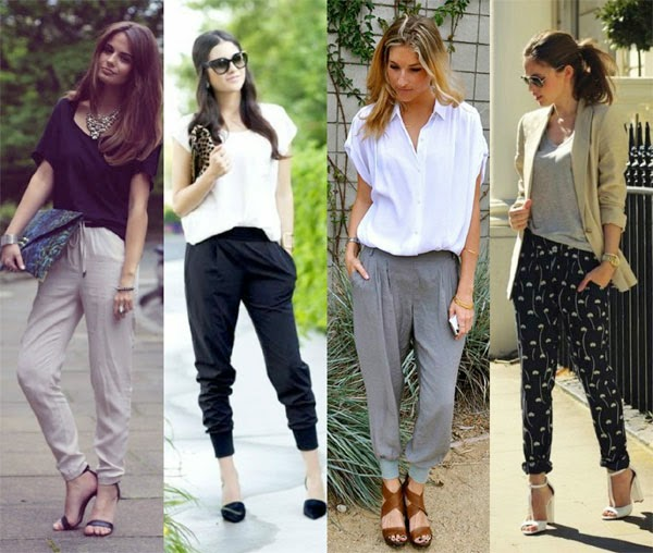 Bloggers pantalones fluidos, baggy