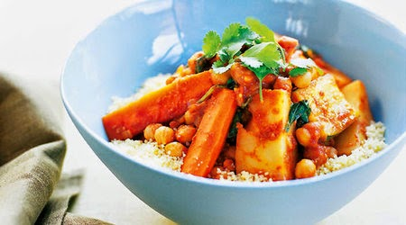 Tunisian vegetable and chickpea tajine recipe