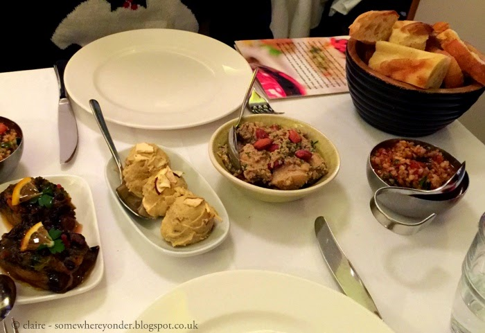 first round of meze at Meze by Lemon Tree - New Years Eve 2014, Istanbul