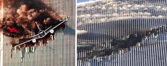 Aviões atingindo torres gêmeas