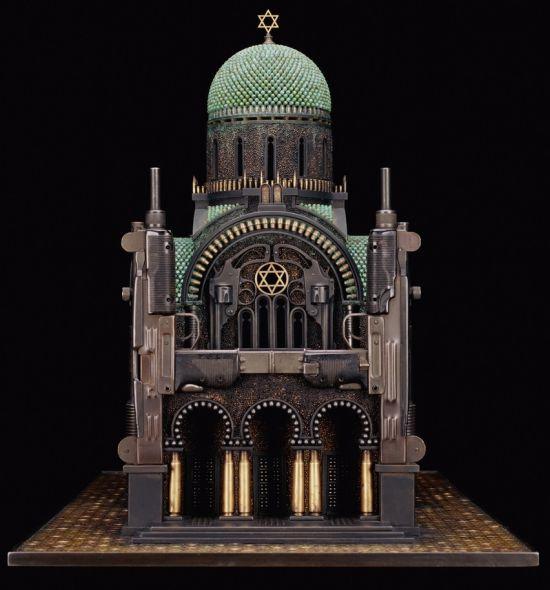 al farrow esculturas relicários templos religiosos símbolos armas munição Sinagoga