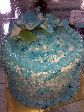 kek bertunang rainbow cake