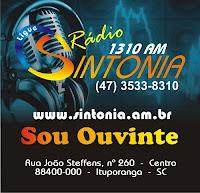 ouvir a Rádio Sintonia AM 1310,0 Ituporanga SC