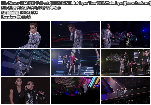 [Perf] GD & TOP   Knock Out, Oh Yeah + High High (111210 TBS 2NE1 1st Japan Tour NOLZA in Japan)