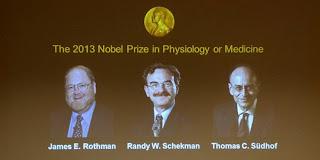 Nobel Prize for Medicine in 2013 three investigators cells transport
