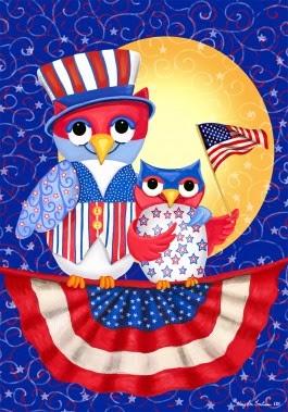 patriotic ows garden flag