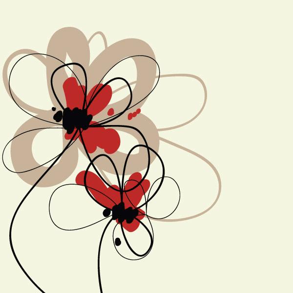 Tarjetas de flores para imprimir