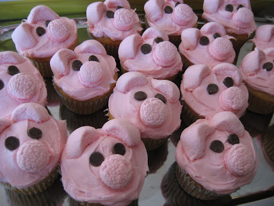 Pink Pig Cupcakes