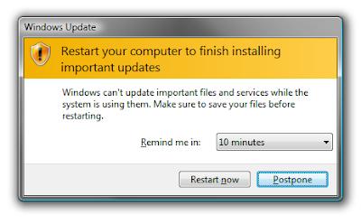 Cara Mencegah Windows Restart Setelah Update