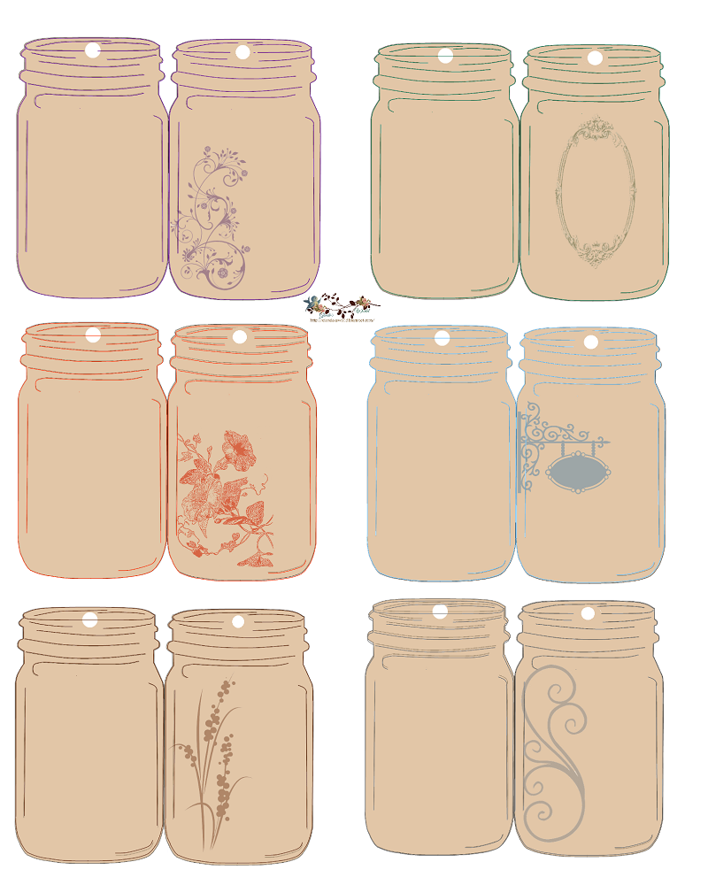 It is a photo of Influential Printable Mason Jar