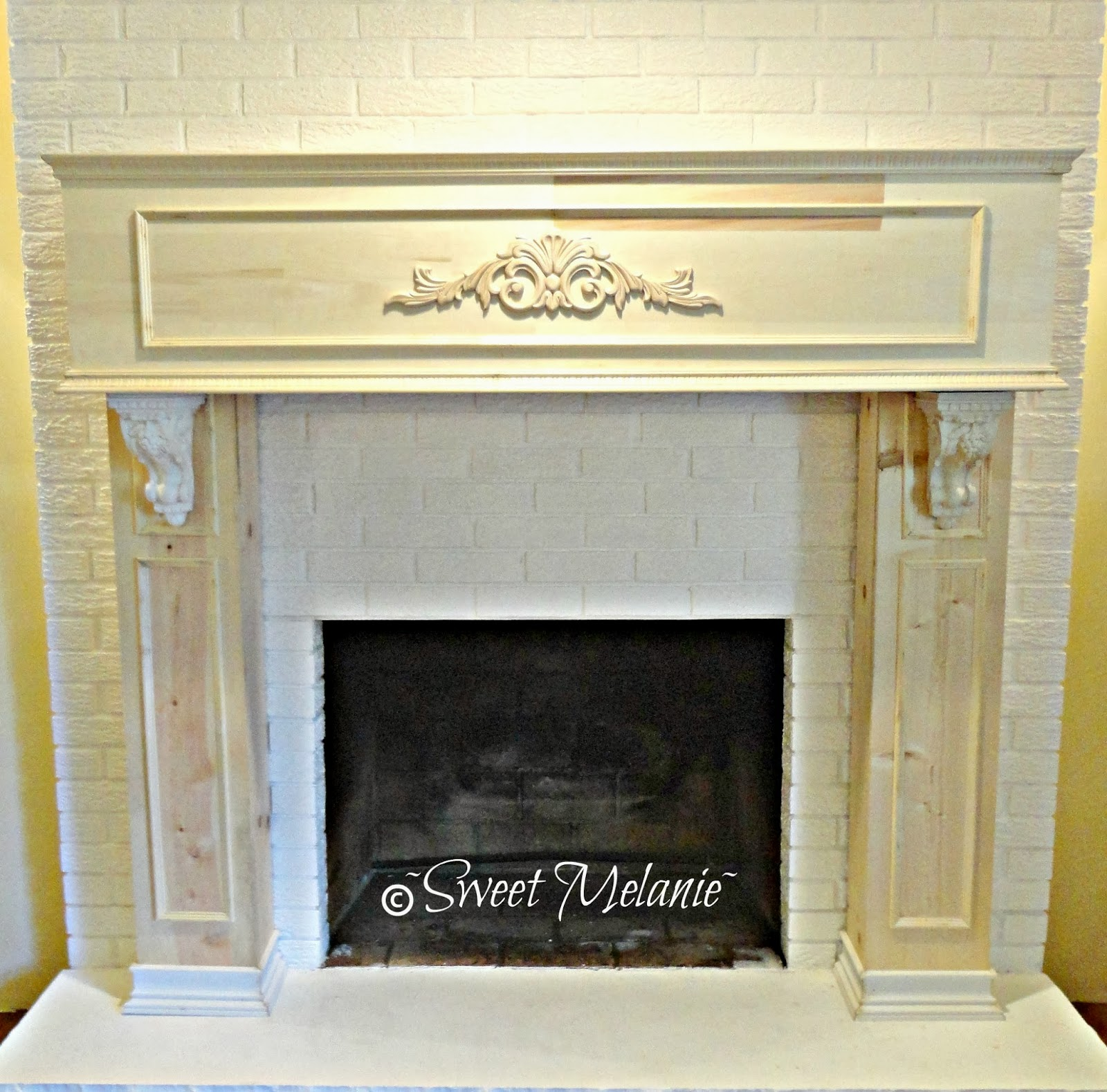sweet melanie my design on updating an old fireplace