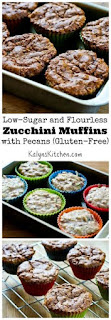 Low-Sugar and Flourless Zucchini Muffins with Pecans (Gluten-Free) [from KalynsKitchen.com]