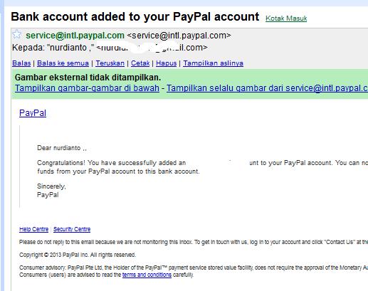 Cara Menambahkan Rekening Bank Payoneer Ke Paypal 9
