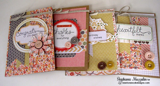 Set of word cards by Stephanie Muzzulin for Newton's Nook Designs | Simply Sentimental Stamp Set