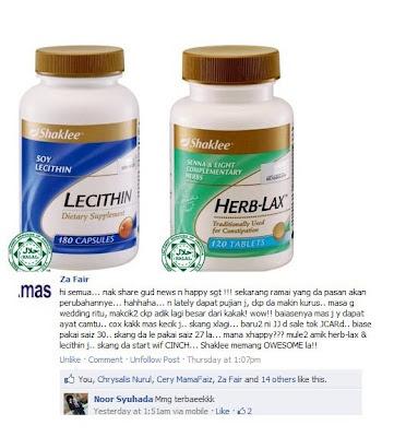 Testimoni slimming  - Lecitin & Herblax